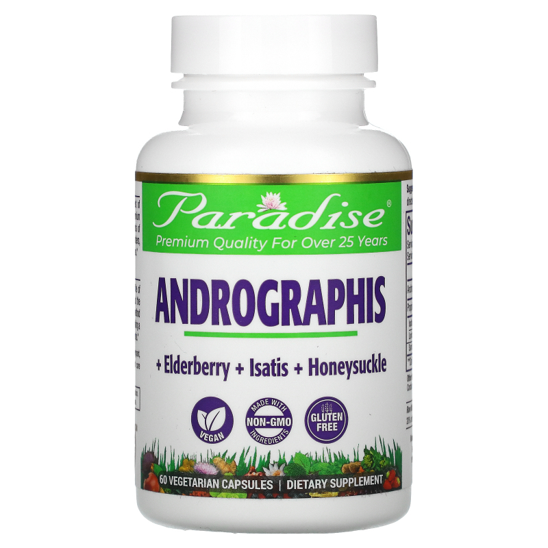 Paradise Herbs, Ultimate Andrographis, 60 Vegetarian Capsules