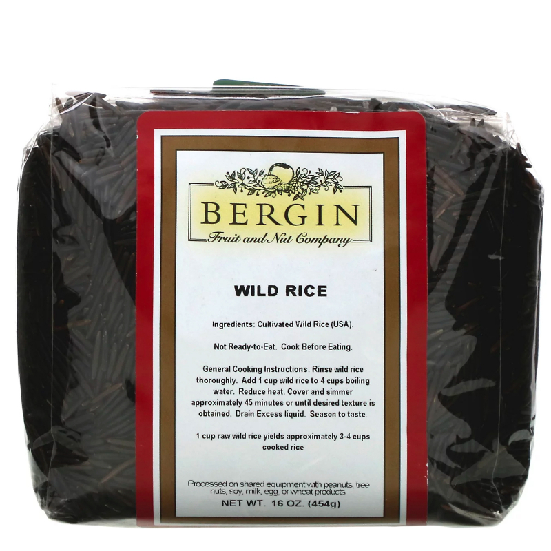 Bergin Fruit and Nut Company, Deluxe Wild Rice, 16 oz (454 g)