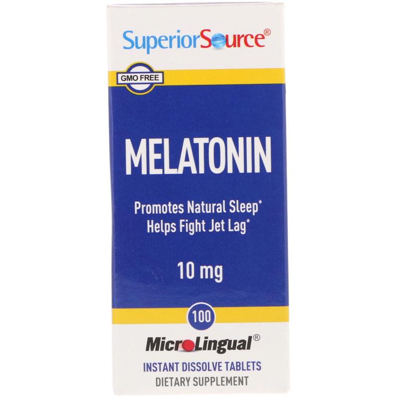 Superior Source, Melatonin, 10 mg, 100 MicroLingual Instant Dissolve Tablets