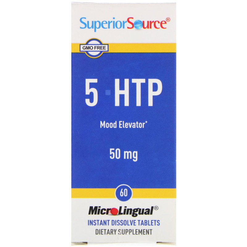 Superior Source, 5-HTP, 50 mg, 60 MicroLingual Instant Dissolve Tablets