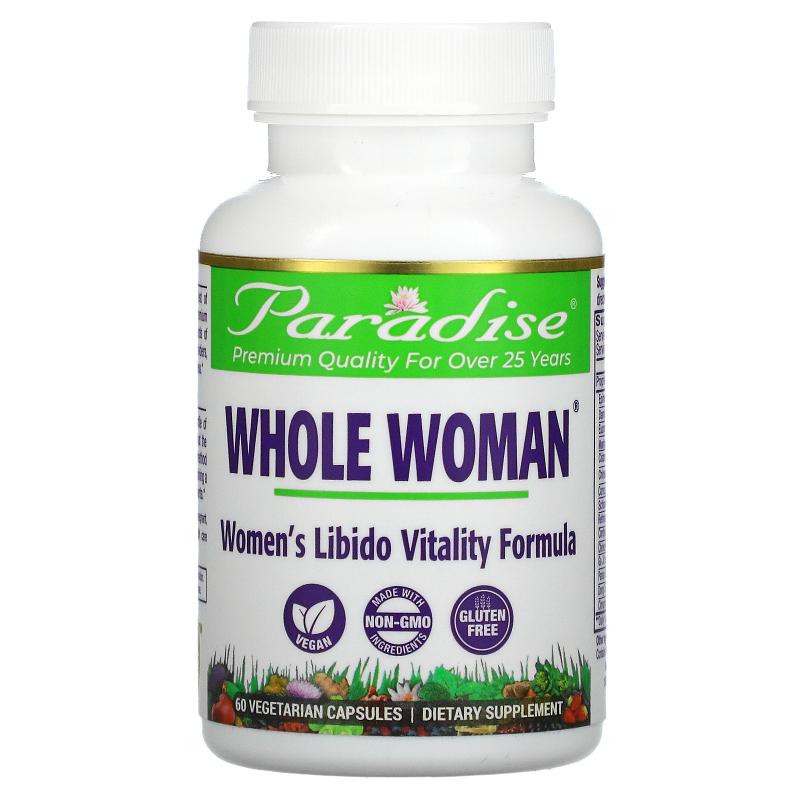 Paradise Herbs, Whole-Woman, Sensual Fire Libido Formula, 60 Vegetarian Capsules