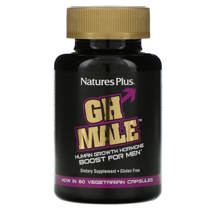 Nature's Plus, GH Male, Human Growth Hormone for Men, 60 Vegetarian Capsules
