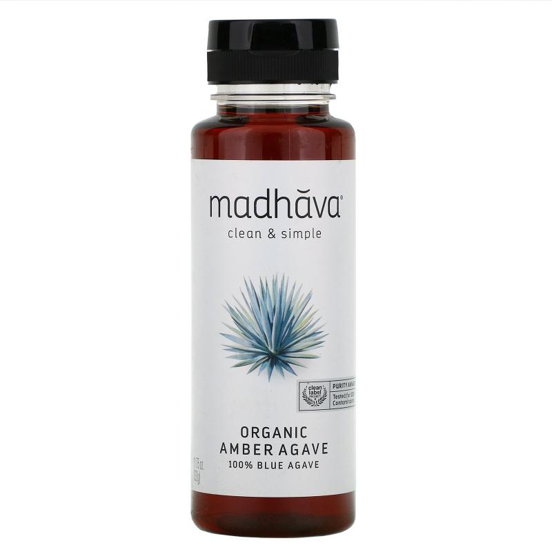 Madhava Natural Sweeteners, Organic Amber Raw Blue Agave, 11.75 oz (333 g)