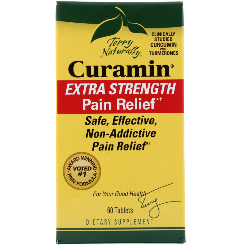 EuroPharma, Terry Naturally, Curamin, Extra Strength Pain Relief, 60 Tablets