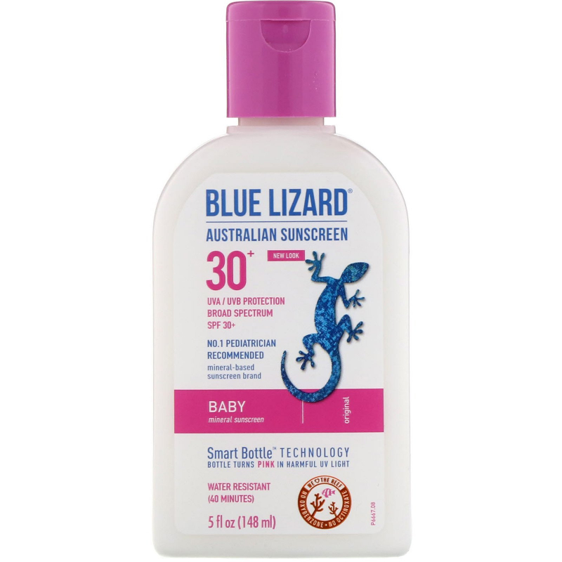 Blue Lizard Australian Sunscreen, Baby, Sunscreen SPF 30+, 5 fl oz (148 ml)