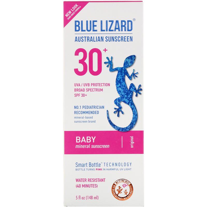 Blue Lizard Australian Sunscreen, Baby, Sunscreen SPF 30+, 5 fl oz (148 ml)
