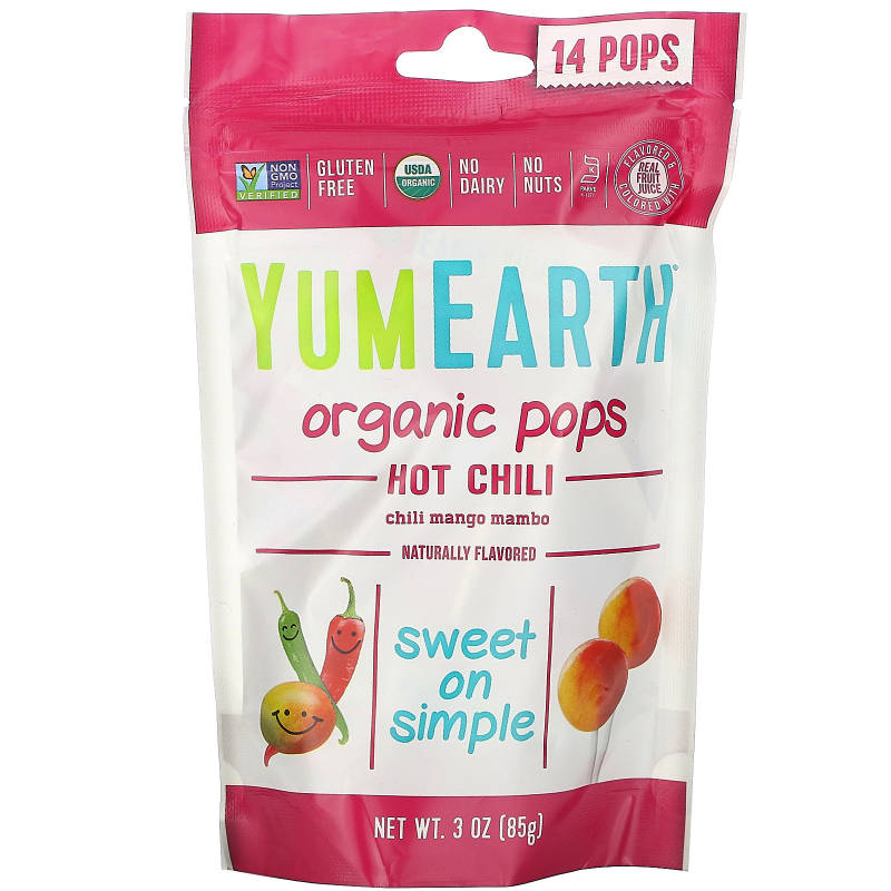 YumEarth, Organic Hot Chili Pops, Chili Mango Mambo, 3 oz (85 g)