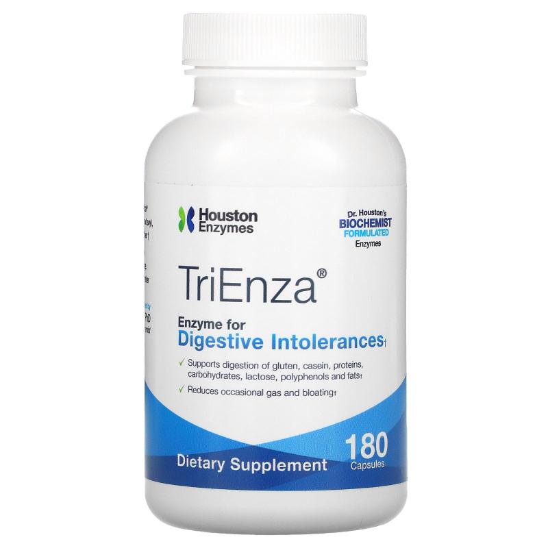 Houston Enzymes, TriEnza, 180 Capsules