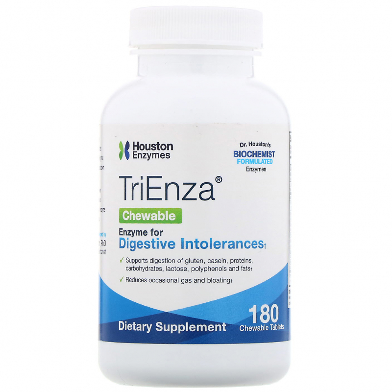 Houston Enzymes, TriEnza Chewable, 180 Chewable Tablets