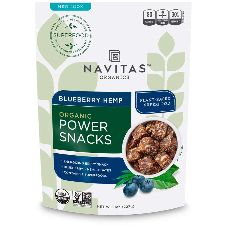 Navitas Organics, Power Snacks, Blueberry Hemp, 8 oz (227 g)