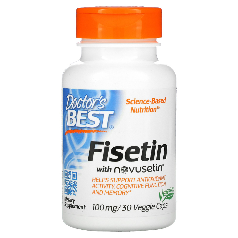 Doctor's Best, Fisetin with Novusetin, 100 mg, 30 Veggie Caps