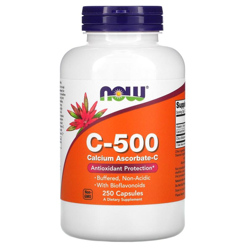 Now Foods, C-500, Calcium Ascorbate-C, 250 Capsules