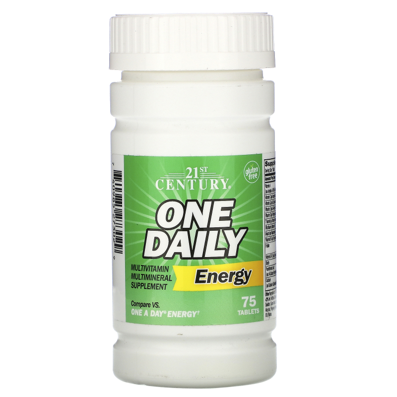 21st Century, One Daily Energy, 75 Tablets
