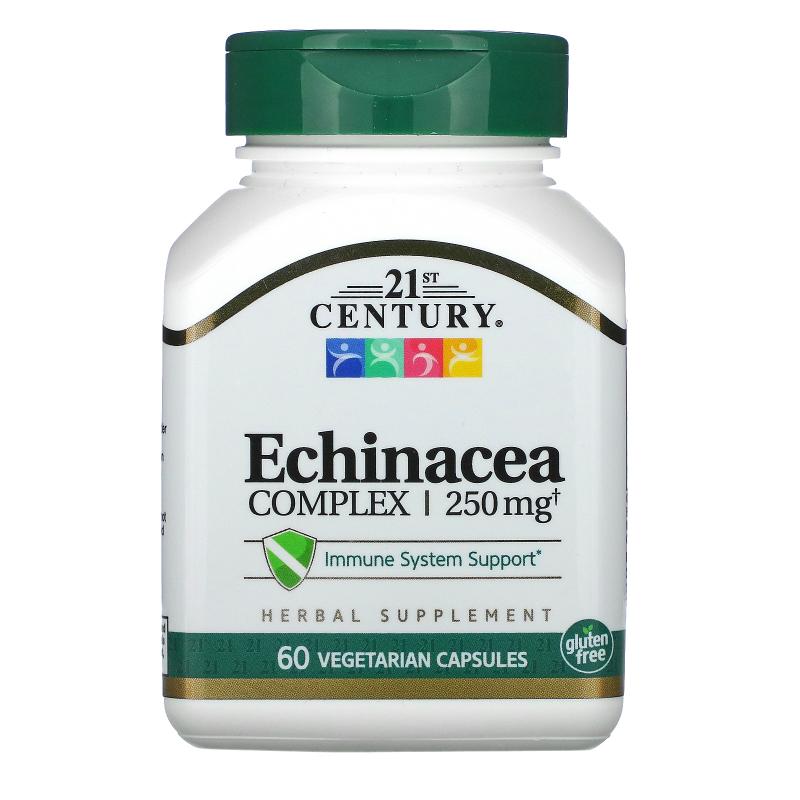 21st Century, Echinacea Complex, 250 mg, 60 Vegetarian Capsules