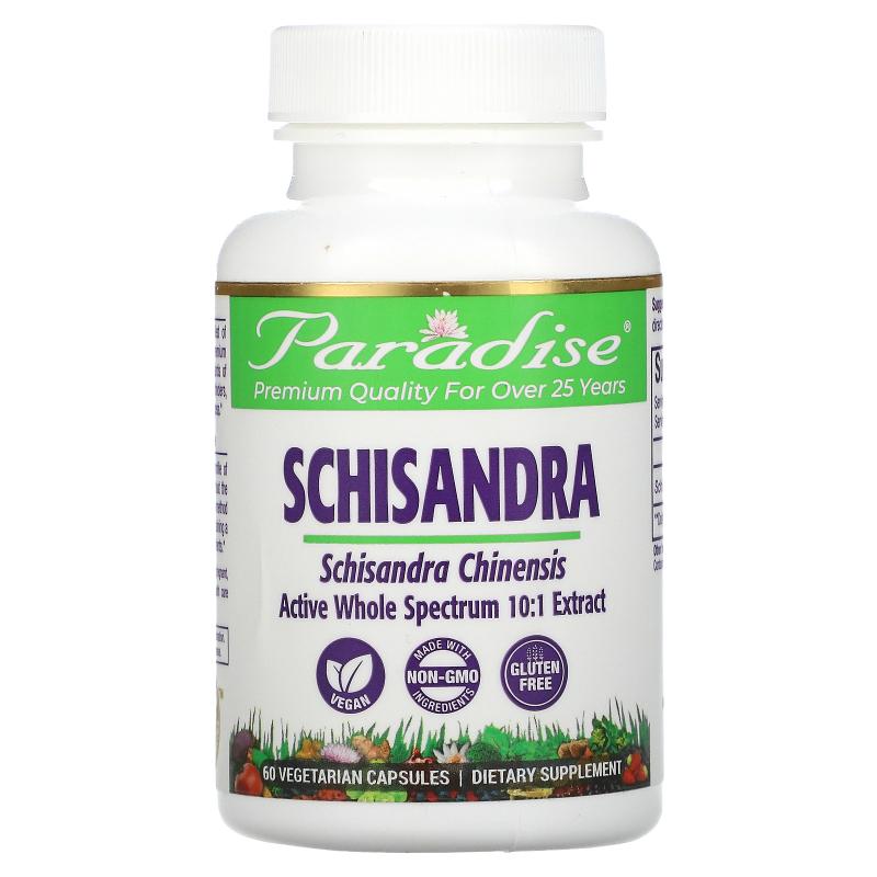 Paradise Herbs, Schisandra, 60 Vegetarian Capsules