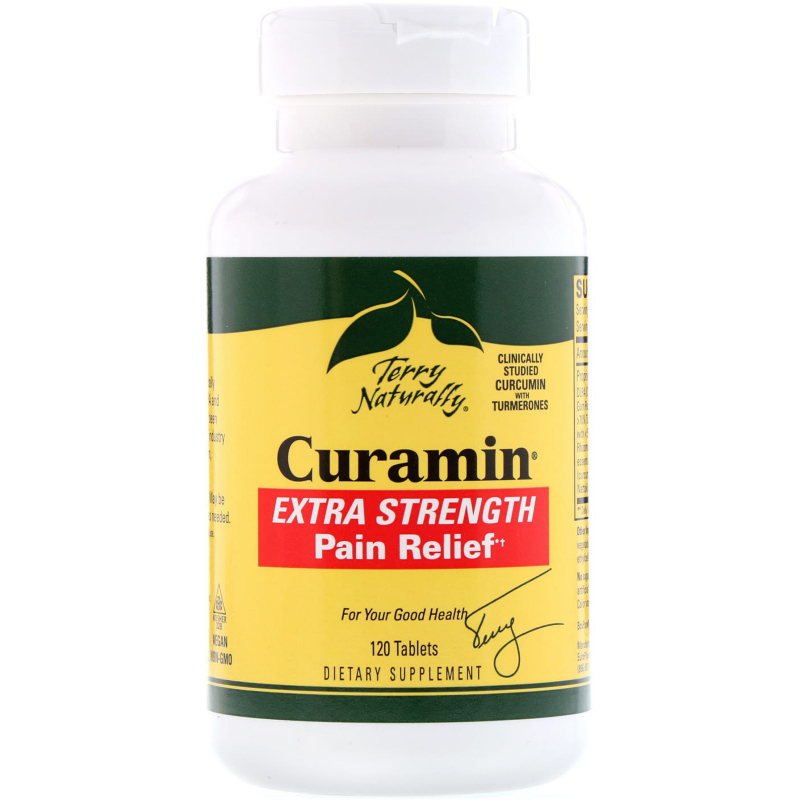 EuroPharma, Terry Naturally, Curamin, Extra Strength Pain Relief, 120 Tablets