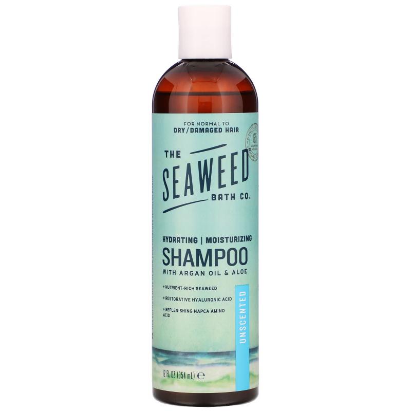 The Seaweed Bath Co., Natural Moisturizing Argan Shampoo, Unscented, 12 fl oz (360 ml)
