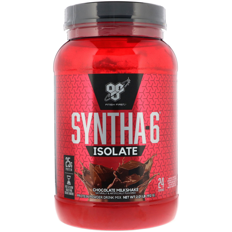 BSN, Syntha-6 Isolate, Protein Powder Drink Mix, Chocolate Milkshake, 2.01 lb (912 g)
