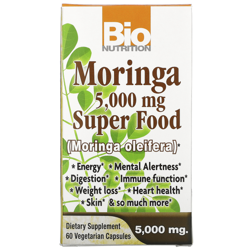 Bio Nutrition, Moringa Super Food, 500 mg, 60 Veggie Caps