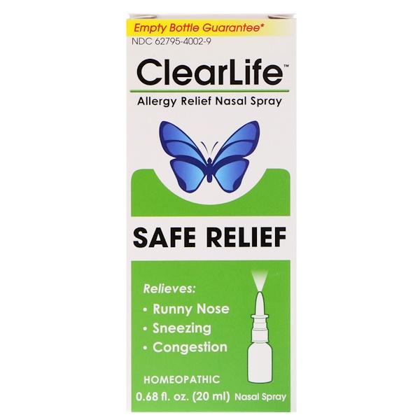 MediNatura, ClearLife, Safe Relief, Allergy Relief Nasal Spray, 0.68 fl oz (20 ml)
