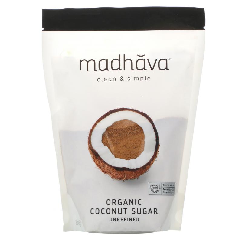 Madhava Natural Sweeteners, Deliciously Organic Coconut Sugar, 1 lb (454 g)