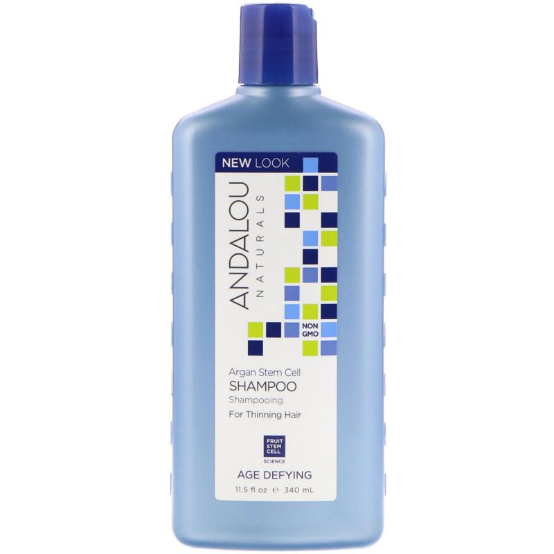 Andalou Naturals, Shampoo, Age Defying, For Thinning Hair, Argan Stem Cell, 11.5 fl oz (340 ml)