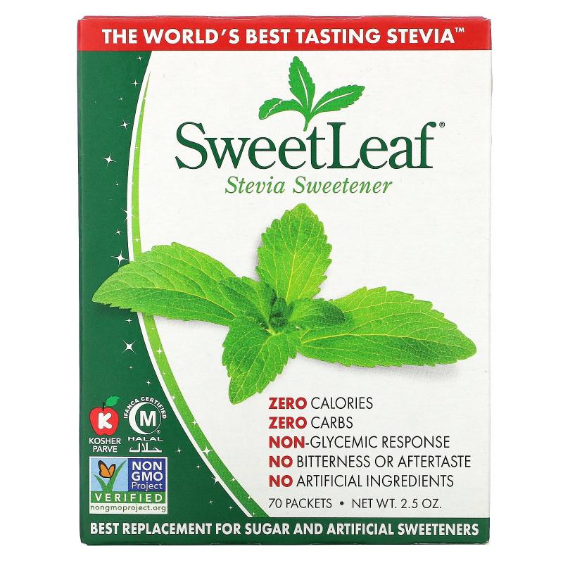 Wisdom Natural, SweetLeaf, Natural Stevia Sweetner, 70 Packets