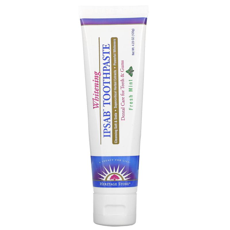Heritage Store, IPSAB, Whitening Toothpaste, Fresh Mint, 4.23 oz (120 g)