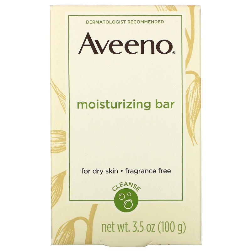 Aveeno, Moisturizing Bar With Nourishing Oat, Fragrance Free, 3.5 oz (100 g)