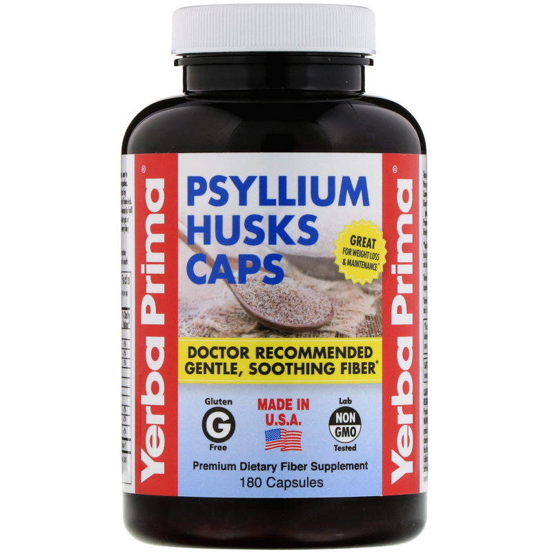 Yerba Prima, Psyllium Husks Caps, 180 Capsules