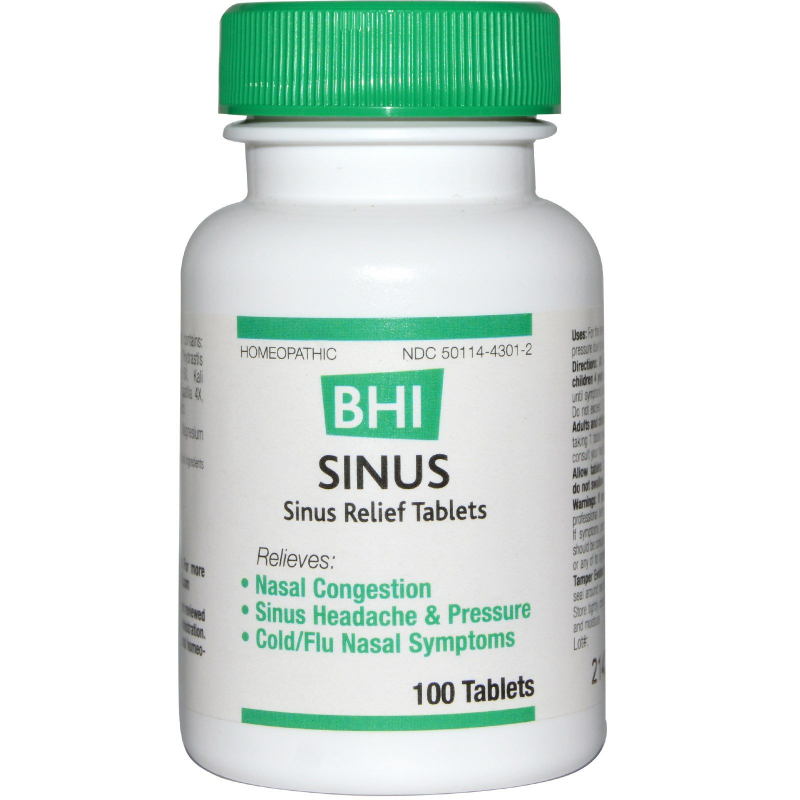 MediNatura, BHI, Sinus, 100 Tablets