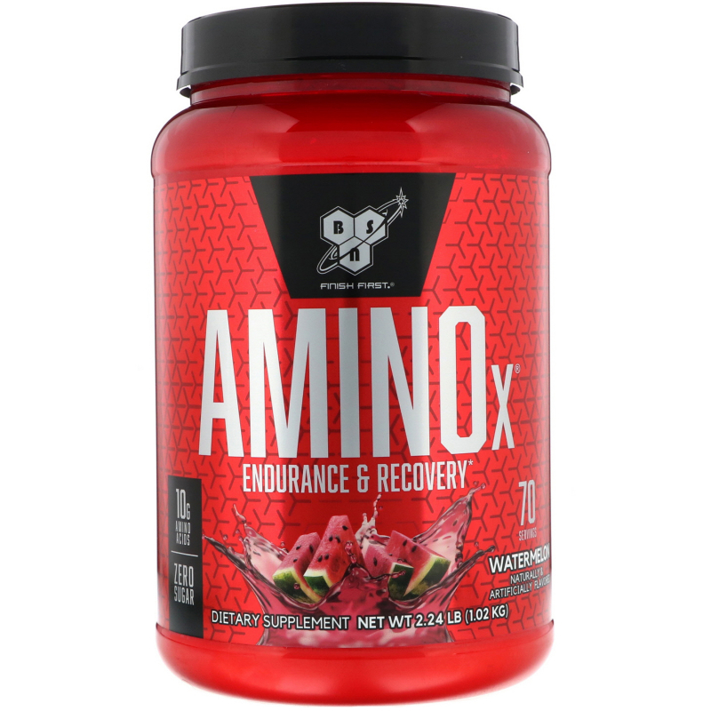 BSN, AminoX, Endurance & Recovery Agent, Non-Caffeinated, Watermelon, 2.24 lb (1.02 kg)