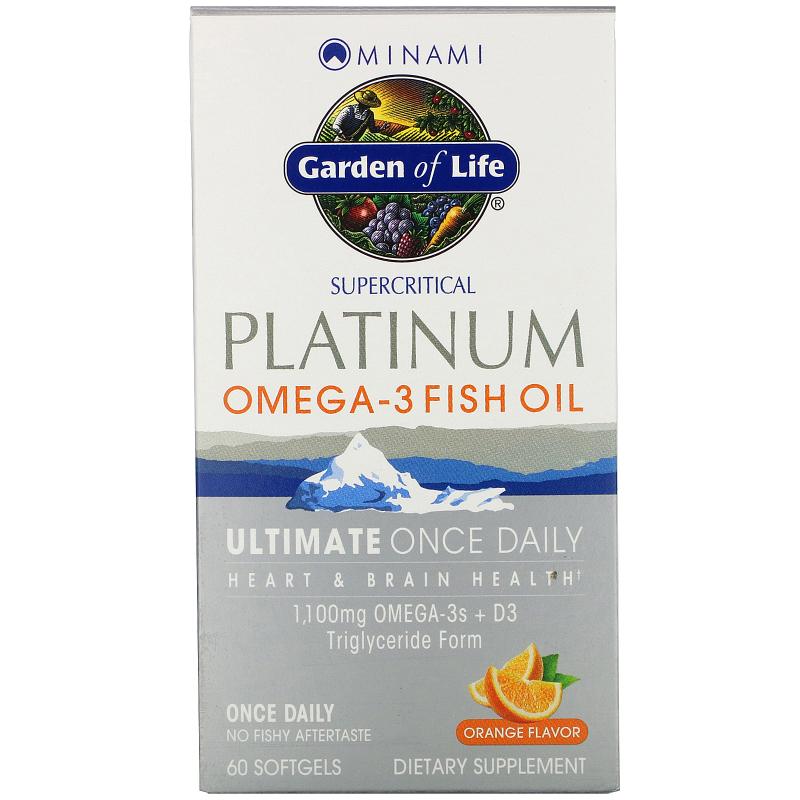 Minami Nutrition, Platinum, Omega-3 Fish Oil, Orange Flavor, 60 Softgels
