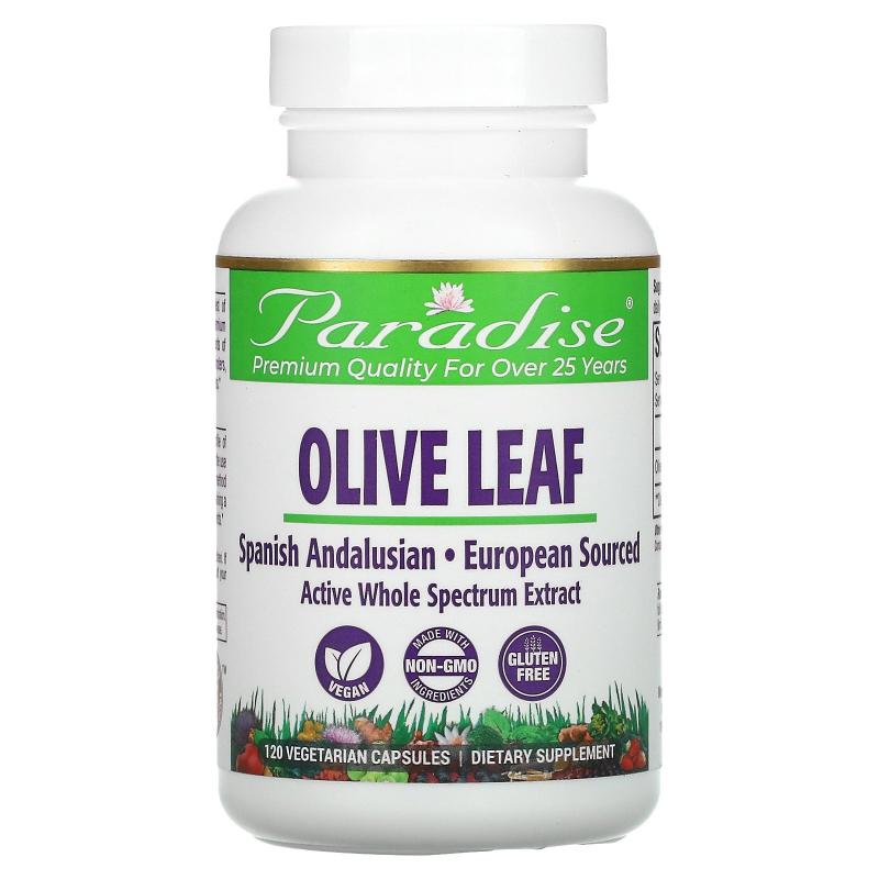 Paradise Herbs, Olive Leaf, 120 Vegetarian Capsules