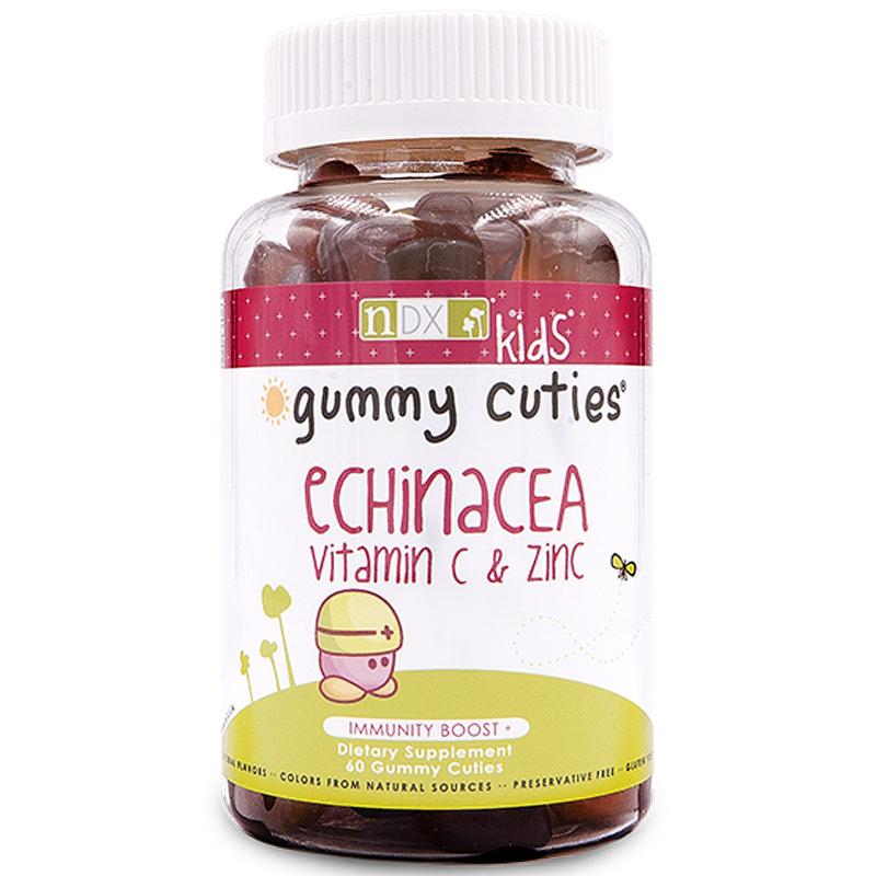 Natural Dynamix (NDX), Gummy Cuties, Kids Echinacea, Vitamin C & Zinc, 60 Gummy Cuties
