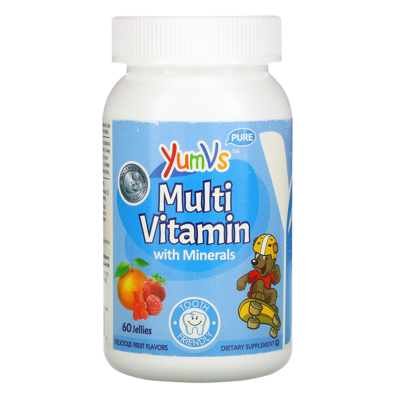 Yum-V's, Multivitamin Formula with Minerals, Delicious Fruit Flavor, 60 Jelly Bears