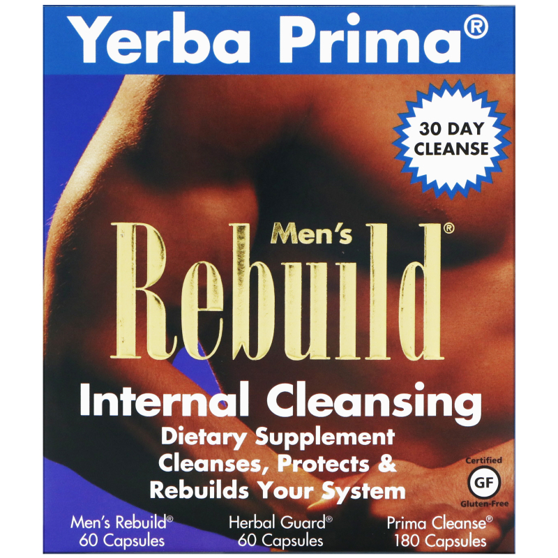 Yerba Prima, Men's Rebuild Internal Cleansing, 3 Part Program, 3 Bottles