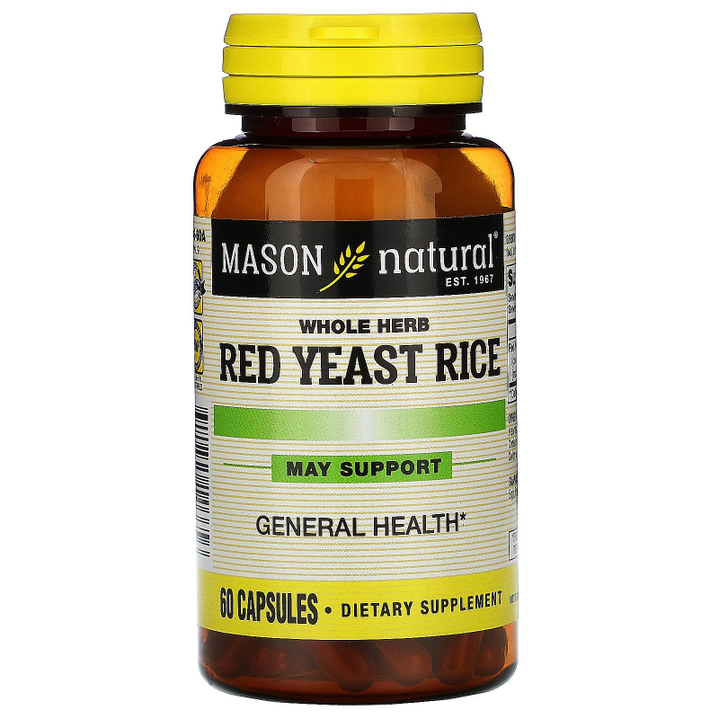 Mason Natural, Red Yeast Rice , 60 Capsules
