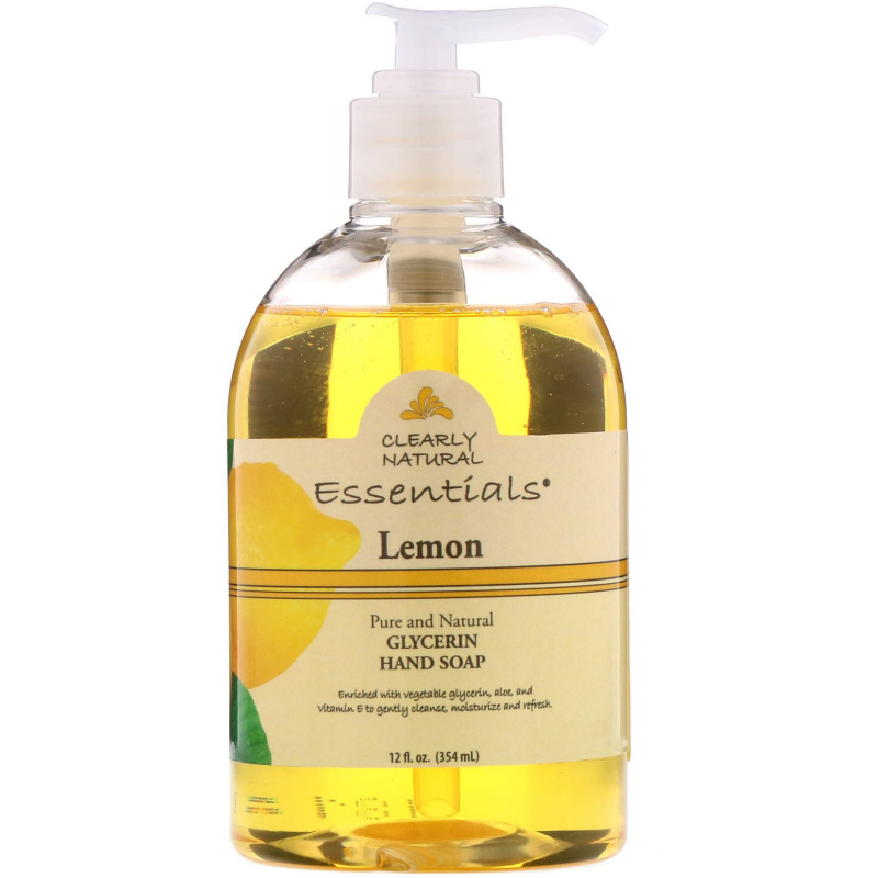 Clearly Natural, Essentials, Glycerine Hand Soap, Lemon, 12 fl oz (354 ml)