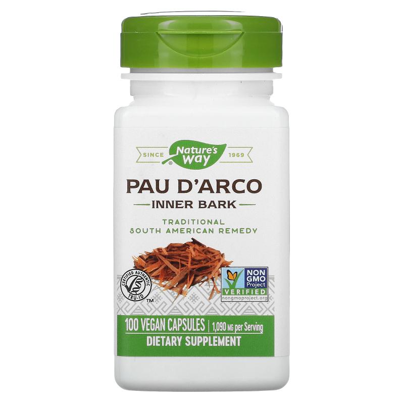 Nature's Way, Pau d'Arco Inner Bark, 545 mg, 100 Veg Capsules