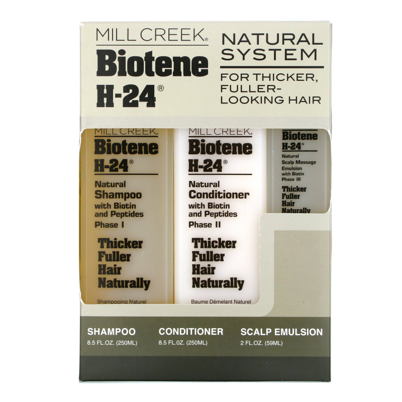 Mill Creek Botanicals, Natural System, 3 Piece Kit