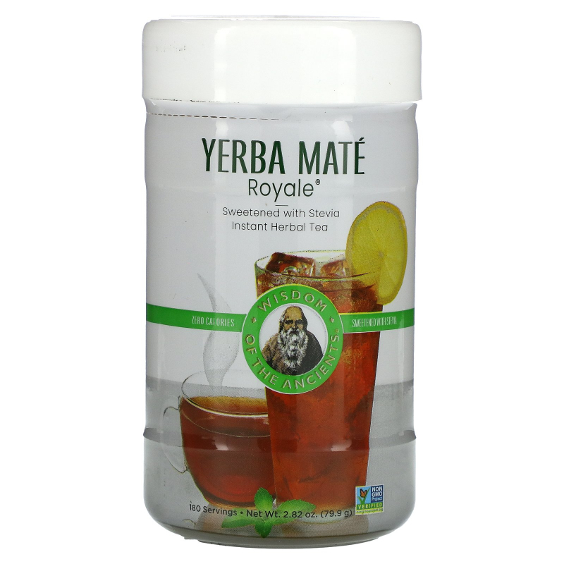 Wisdom Natural, Yerba Mate Royale, Sweetened with Stevia, Instant Tea, 2.82 oz (79.9 g)
