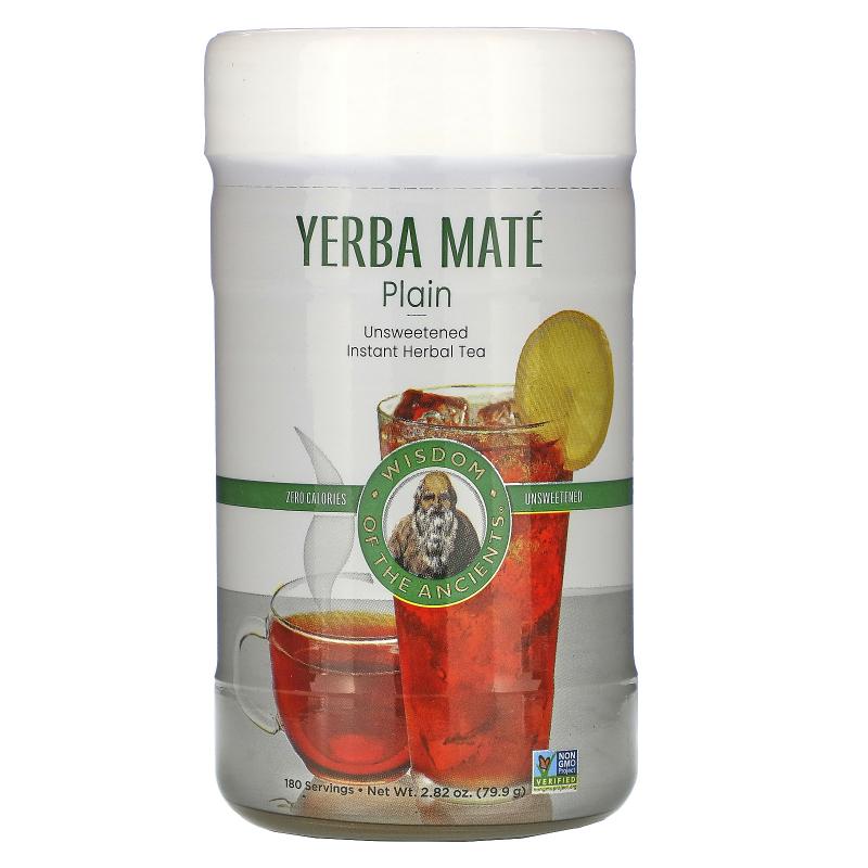 Wisdom Natural, Wisdom of the Ancients, Yerba Mate Plain, Unsweetened, Instant Tea, 2.82 oz (79.9 g)