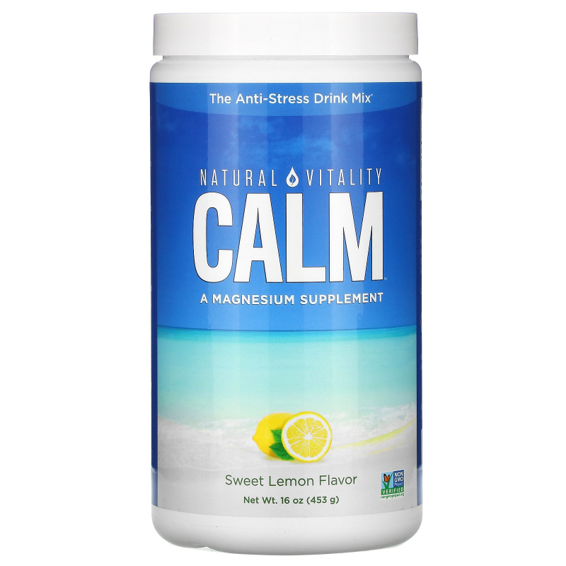 Natural Vitality, Natural Calm, The Anti-Stress Drink, Sweet Lemon Flavor, 16 oz (453 g)
