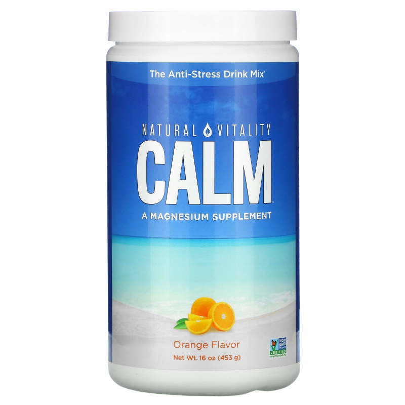 Natural Vitality, Natural Calm, The Anti-Stress Drink, Organic Orange Flavor, 16 oz (453 g)