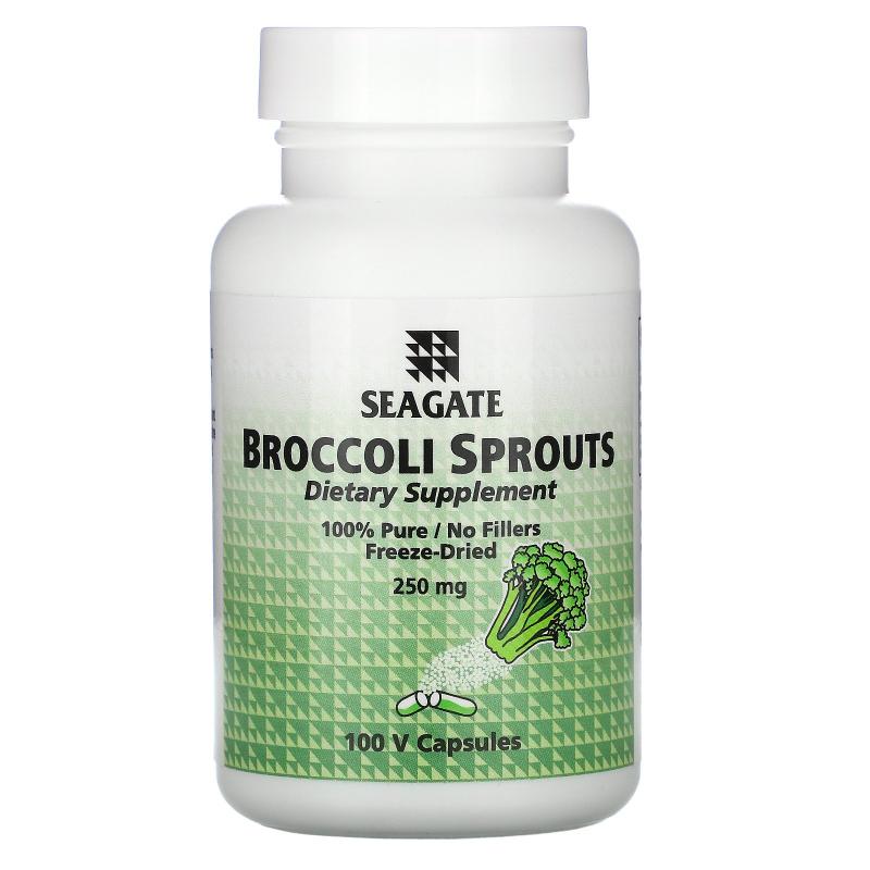 Seagate, Broccoli Sprouts, 250 mg, 100 Veggie Caps