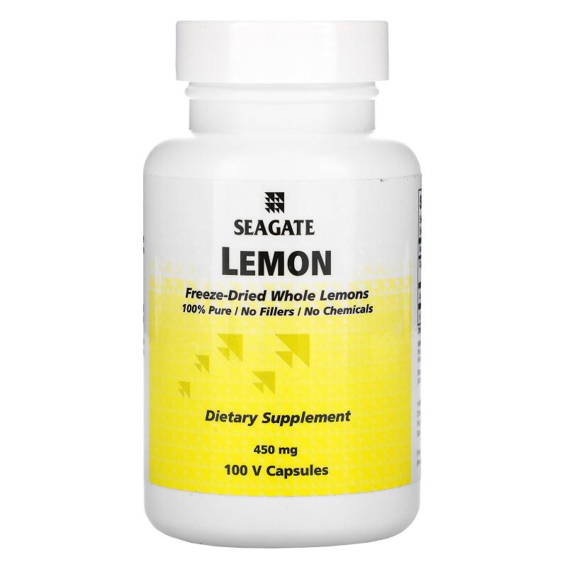Seagate, Lemon, 450 mg, 100 Vcaps