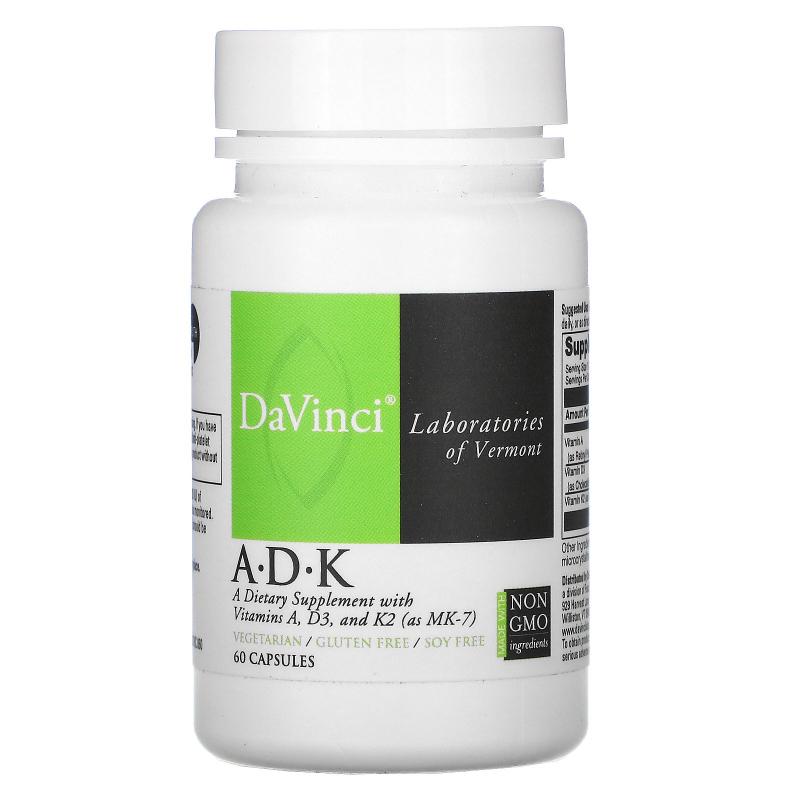 DaVinci Laboratories of Vermont, A•D•K, 60 Capsules