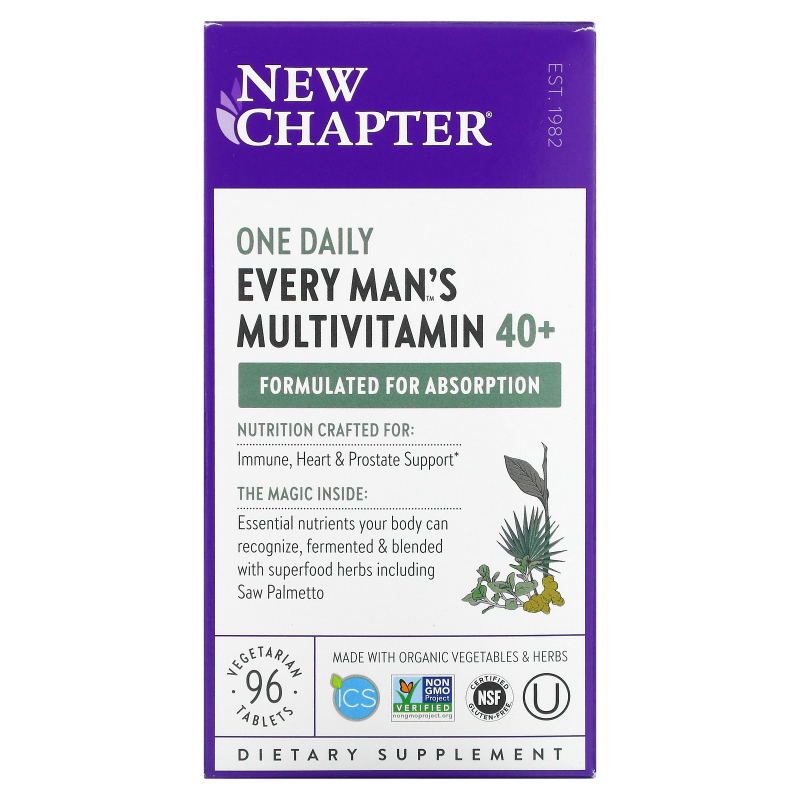 New Chapter, 40+ Every Man's One Daily Multi, 96 Tablets