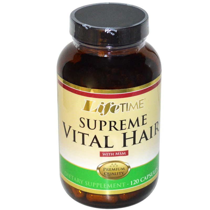 LifeTime Vitamins, Supreme Vital Hair with MSM, 120 Capsules